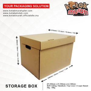 Kotak dokumen fail A4 @ storage box