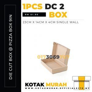 Die Cut Box @ Pizza Box 9in @ DC2